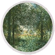 Thicket  The House Of Argenteuil Round Beach Towel