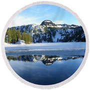 Thin Ice Round Beach Towel