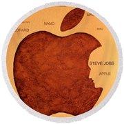 Think Different Steve Jobs 2 Round Beach Towel