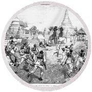 Third Burmese War, 1885 Round Beach Towel