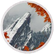 Third Flatiron Round Beach Towel