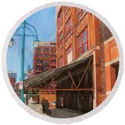 Third Ward - Broadway Awning Round Beach Towel