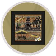 This Is Bali Round Beach Towel