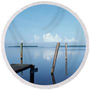 This Is The Morning View Of Pine Island Round Beach Towel