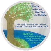 """This Is What The Lord Says: """"cursed Round Beach Towel"""