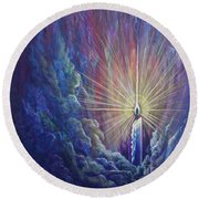 This Little Light Of Mine Round Beach Towel by Nancy Cupp
