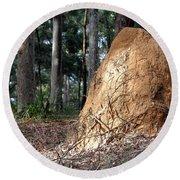 This Mound Has Termites Round Beach Towel