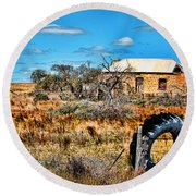 This Old House... Round Beach Towel