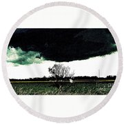 This Darkness Is But For A Time Round Beach Towel