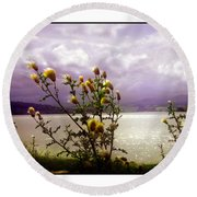 Thistledown Time Round Beach Towel
