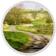 Thixendale Road  North Yorkshire Round Beach Towel