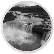 Thofafoss Waterfall Iceland 1538 Round Beach Towel