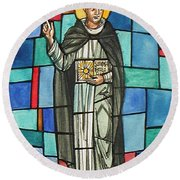 Thomas Aquinas Italian Philosopher Round Beach Towel