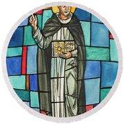 Thomas Aquinas Italian Philosopher Round Beach Towel by Photo Researchers