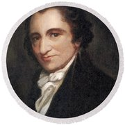 Thomas Paine, American Founding Father Round Beach Towel