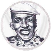 Thomas Sankara 02 Round Beach Towel