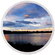 Thompson Lake 3 Round Beach Towel