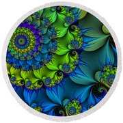 Thorn Flower Round Beach Towel