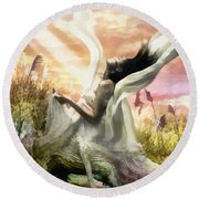 Thorn Round Beach Towel by Mo T