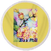 Thorns Have Roses Round Beach Towel