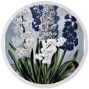 Thornton: Hyacinths Round Beach Towel