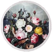 Thornton: Roses Round Beach Towel