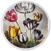 Thornton: Tulips Round Beach Towel
