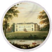 Thorp Perrow Near Snape In Yorkshire Round Beach Towel