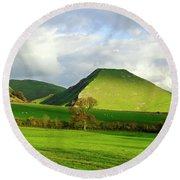 Thorpe Cloud From Bunster Hill Round Beach Towel