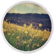 Those Lighthearted Days Round Beach Towel