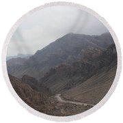 Those Mountains Round Beach Towel