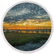 Those Southern Sunsets Round Beach Towel