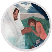 Those Who Hope In The Lord Will Renew Their Strength Round Beach Towel