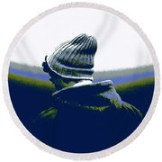 Thoughful Youth 2 Round Beach Towel
