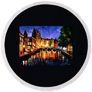 Thoughtful Amsterdam Round Beach Towel