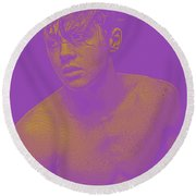 Thoughtful Youth Series 16 Round Beach Towel