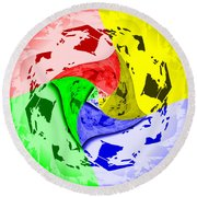 Thoughts About Earth Round Beach Towel