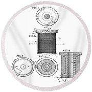 Thread Spool Patent 1877  Round Beach Towel