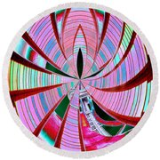 Threading The Needle Round Beach Towel