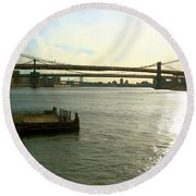 Three Bridges Round Beach Towel