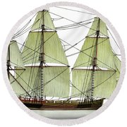 Three Masts Commercial 1760 Round Beach Towel