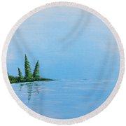 Three Pine Island Round Beach Towel