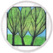 Three Sisters Round Beach Towel