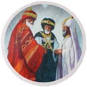 Three Wise Men Round Beach Towel