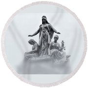 Three Woman Round Beach Towel