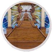 Throne Of Grace Round Beach Towel