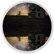 Through A Mirror Darkly  Round Beach Towel