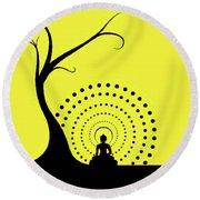 Through The Eye Of Buddhism Round Beach Towel
