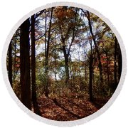 Through The Forest Round Beach Towel