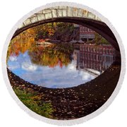 Through The Looking Glass Round Beach Towel